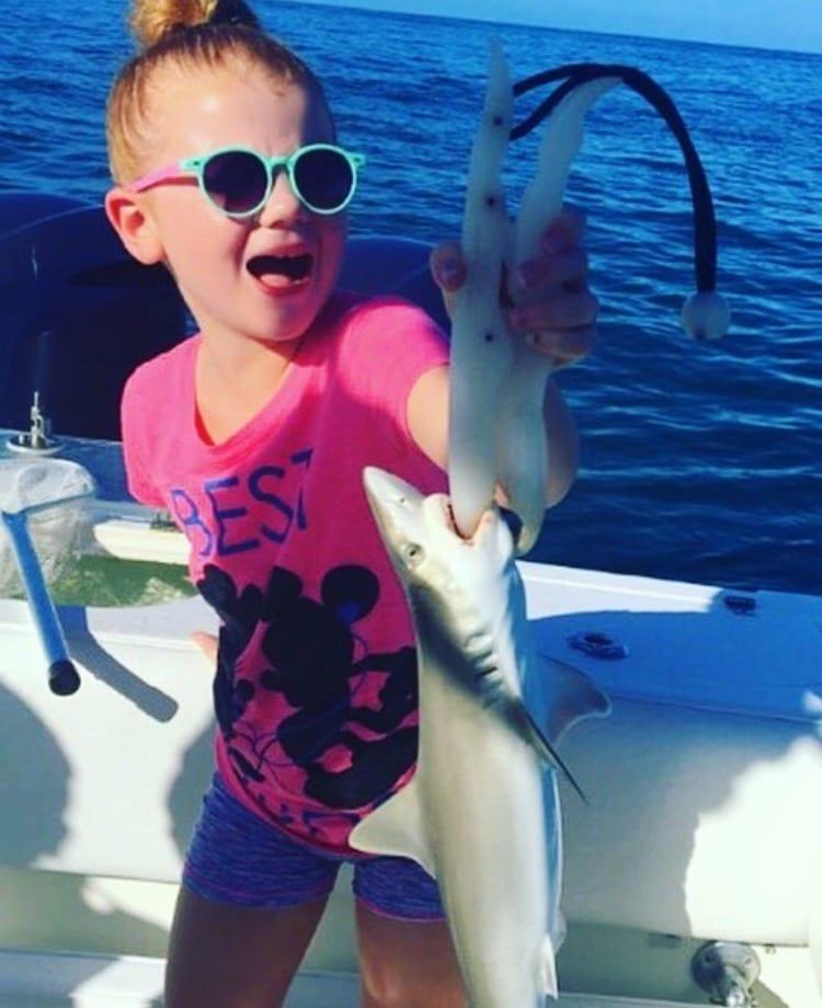 kids shark fishing